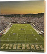 Vanderbilt Endzone View Of Vanderbilt Stadium Wood Print by Vanderbilt University