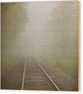 Vanishing Into The Fog Wood Print