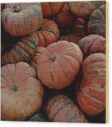 Varied Pumpkins Wood Print