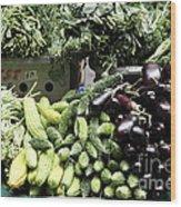 Variety Of Fresh Vegetables - 5d17828 Wood Print