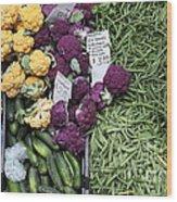 Variety Of Fresh Vegetables - 5d17900-long Wood Print