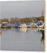 Various Boats At Barton Marina Wood Print