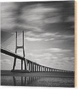 Vasco Da Gama Bridge IIi Wood Print