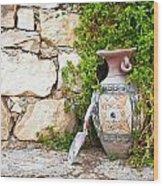 Vase And Trowel  Wood Print