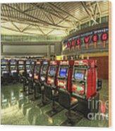 Vegas Airport 2.0 Wood Print