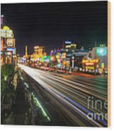 Vegas Light Trails Wood Print