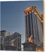 Vegas Moon Wood Print