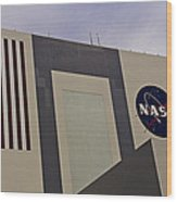 Vehicle Assembly Building Wood Print