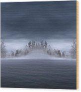 Veil Of Mist Wood Print