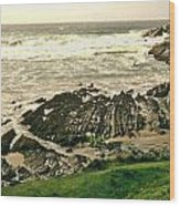 Velencia Island Shore Wood Print