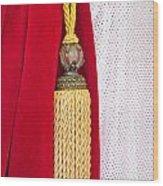Velvet Curtain Wood Print