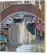 Venetian Canal Wood Print