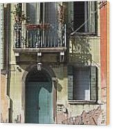 Venetian Doorway Wood Print