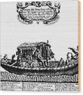 Venetian Gondola, C1689 Wood Print by Granger