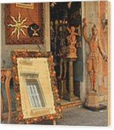 Venice Antique Shop Wood Print