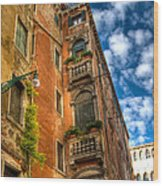 Venice Apartment  Wood Print
