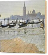 Venice At Dawn Wood Print