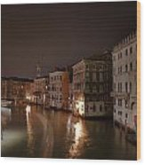 Venice By Night Wood Print by Joana Kruse