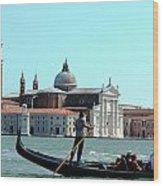Venice From A Gandola Wood Print