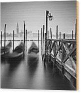 Venice Gondolas II Wood Print