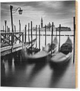 Venice Gondolas Wood Print