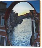 Venice Grand Canal Mirrored Wood Print