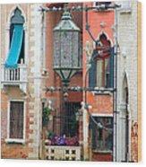 Venice Lamp Wood Print