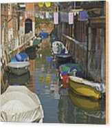 Venice Laundry Wood Print