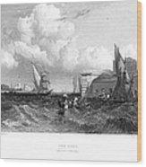 Venice: Lido, 1833 Wood Print