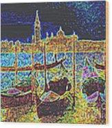 Venice Venezia Glow Wood Print