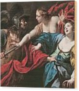 Venus Preventing Her Son Aeneas From Killing Helen Of Troy Wood Print