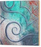 Venus Sky Wood Print by Reina Cottier