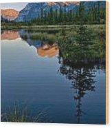 Vermilion Lake Wood Print