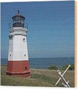 Vermillion Ohio Lighthouse Wood Print