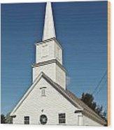 Vermont Church. Wood Print