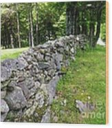 Vermont Stone Wall Wood Print