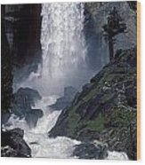 Vernal Falls Spring Flow Wood Print