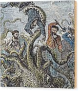 Verne: 20,000 Leagues, 1870 Wood Print