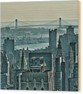 Verrazano From Manhattan Wood Print
