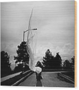 Vertical Cloth Wind  Wood Print by Scott Sawyer