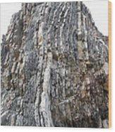 Vertical Sedimentary Strata Wood Print
