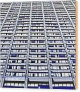 Vertical Urbanization Wood Print