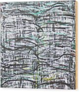 Vertical White Lines And Horizontal Black Lines Wood Print