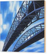 Very Blue Water Bridge  Wood Print