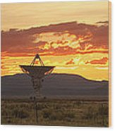 Very Large Array At Sunset Wood Print