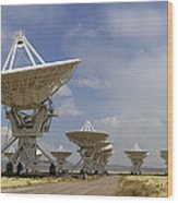 Very Large Array (vla) Radio Antennae Wood Print