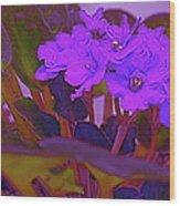 Very Violets  Wood Print