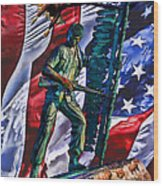 Veteran Warrior Wood Print