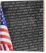 Veterans Memorial  Wood Print