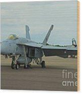 Vf-31 Tomcatters On Tarmac  Wood Print